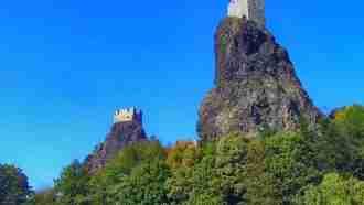 Bohemian paradise self-guided tour Czech Republic Trosky Castle