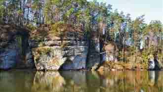 Bohemian paradise self-guided tour Czech Republic lake view