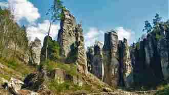 Bohemian paradise self-guided tour Czech Republic Rock town view