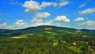 Bohemian paradise self-guided tour Czech Republic Kozakov hill