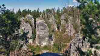 Bohemian paradise self-guided tour Czech Republic trail scenery