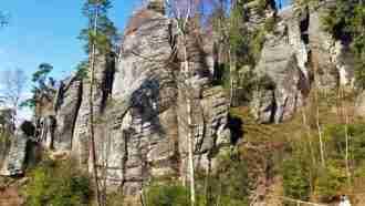 Bohemian paradise self-guided tour Czech Republic trail view