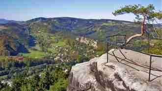Bohemian paradise self-guided tour Czech Republic view