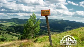 self guided hiking, Carpatian mountains, Poland, border in magura spiska