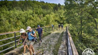 Self-guided walking holiday, Croatia, on the old railway road 2