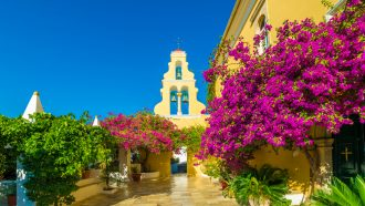 Self Guided Walking Holidays in May, corfu_monastery_small