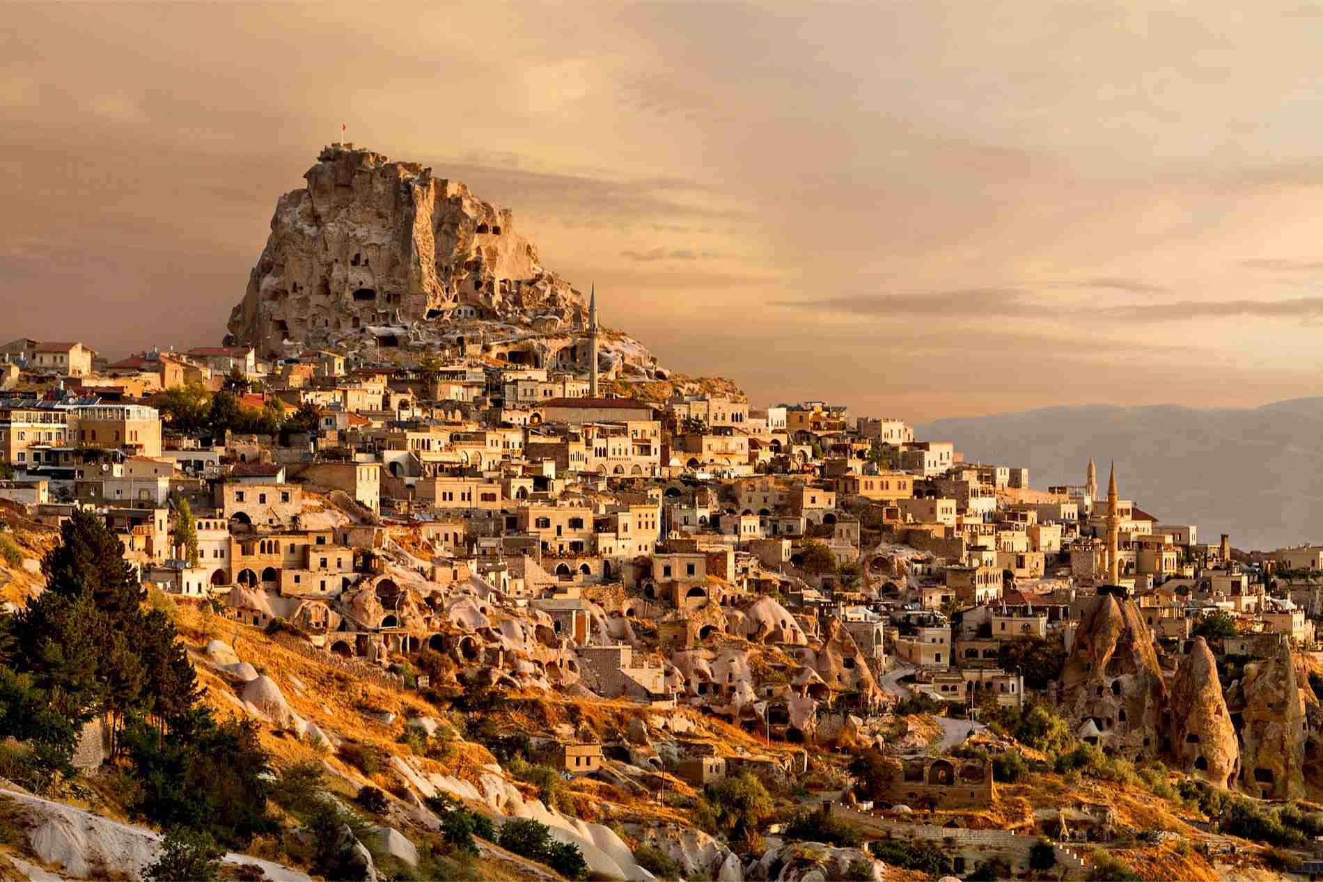 Uchisar Area, Cappadocia, Turkey  № 1427769  скачать